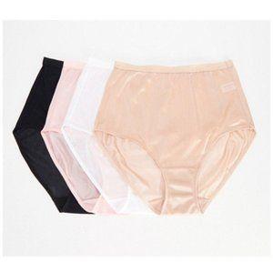 4 Breezies 100% Nylon Full-Brief Panties 1X P2836